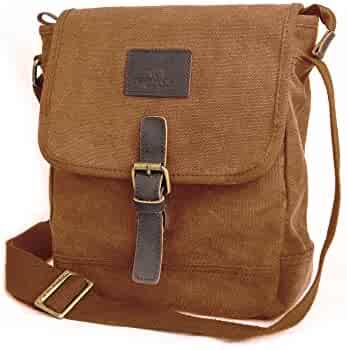 ca7625f330 Canvas Messenger Bag TOPWOLF Small Crossbody Bag Casual Travel Working  Tools Bag Shoulder Bag Hold Phone