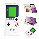 UrSpeedtekLive Galaxy S9 Wallet Case Folio Flip Premium PU Leather Case Cover w/Card Holder Slot Pockets, Wrist Strap, Magnetic Closure Compatible with Samsung Galaxy S9 (2018)- Gameboy