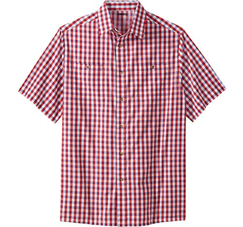 - KingSize Men's Big & Tall Short-Sleeve Plaid Sport Shirt, True Red Check Big-XL