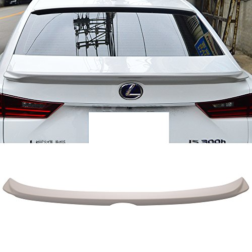 Trunk Spoiler Fits 2014-2016 Lexus IS250 XE30 | F Style ABS Rear Tail Lip Deck Boot Wing Other Color Available By IKON MOTORSPORTS | ()