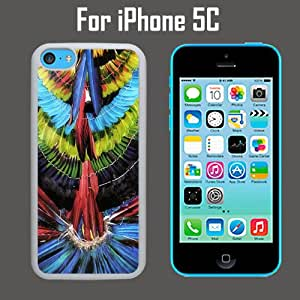 Colorful Feathered Headdress Custom Case/ Cover/Skin *NEW* Case for Apple iPhone 5C - Black - Plastic Case (Ships from CA) Custom Protective Case , Design Case-ATT Verizon T-mobile Sprint ,Friendly Packaging - Slim Case