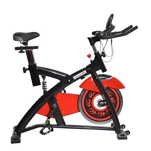 Soozier Pro Upright Stationary練習Cycling Bike w/LCDモニタ – ブラックとレッド   B00MVAU7GE