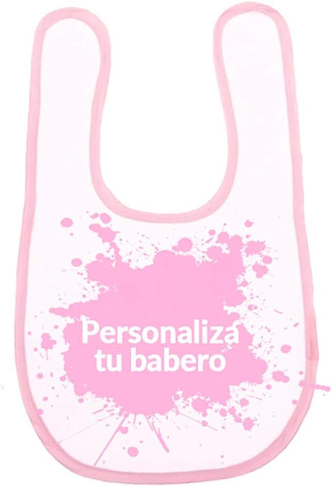 Babero bebé con velcro 100% algodón y personalizable: Amazon.es: Bebé