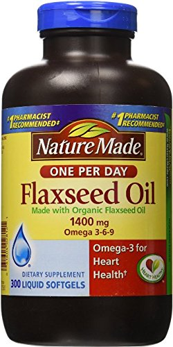 Nature Made Organic Flaxseed Oil 1,400 mg 2Pack ( 300Softgels )