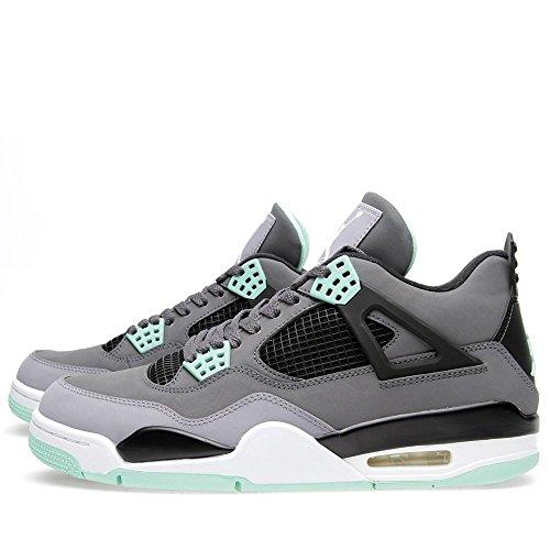 Size Jordan 10 'green Trainer Black Dark green Uk Glow' Air Nike Grey 4 Retro Hx66SP