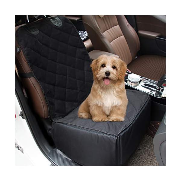 51JHkWnMLNL Yikaich Hundesitz Auto Hunde Autositz Rückbank & Vordersitz Transportbox Wasserdicht, für Kleine Mittlere große Hunde