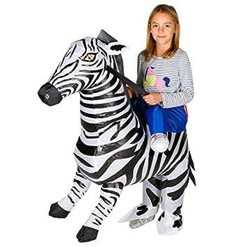 Bodysocks Aufblasbares Zebra Kostüm Für Kinder Amazonde