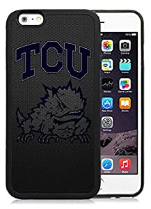 Fashionable And Unique Custom Designed With NCAA Big 12 Conference Big12 Football TCU Horned Frogs 4 Protective Cell Phone Hardshell Cover Case For iPhone 6 4.7 Inch TPU Phone Case Black