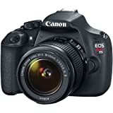 Canon EOS Rebel T5 Digital SLR Camera Body & EF-S 18-55mm IS II Lens with 32GB Card + Case + Battery + Charger + Tripod + Filter + Kit