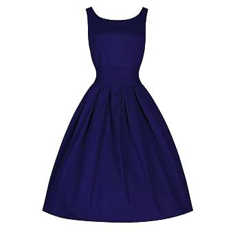 Honestyi Women Loose Dress Lady Mini Dress 50S Swing Retro Party Dress Princess Wedding Dresses For Women Lace Dress Swing Dress Pencil Dress Bodycon Girls ...