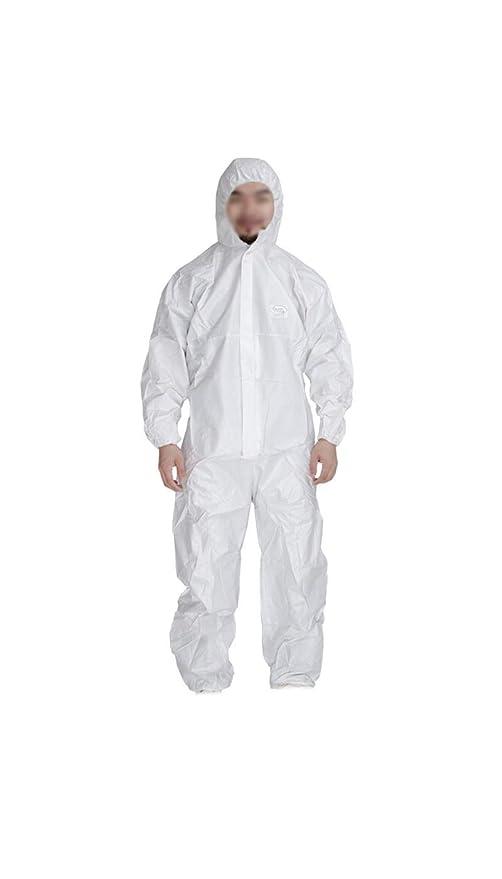Desechable de una pieza Traje protector ropa antiestática capucha ...
