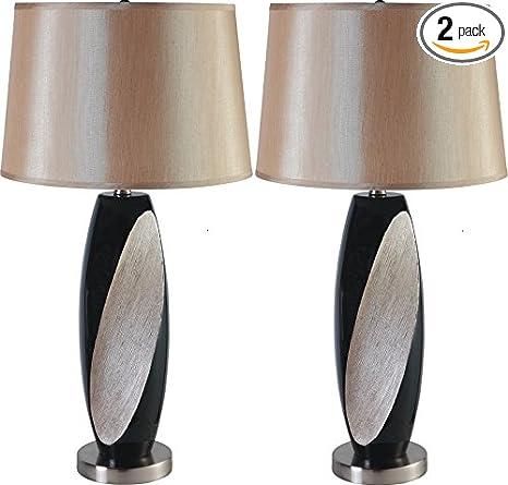 Amazon.com: major-q Sienna Negro Moderno Juego de lámpara de ...