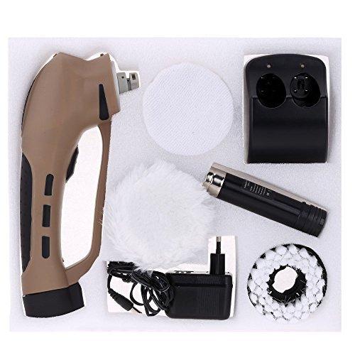Anself Elektrische Schnurlose Schuhbürste Schuhputzmaschine für Lederpflege