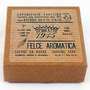 Saponificio Varesino Felce Aromatica Deluxe Hart Rasierseife 150g Puck