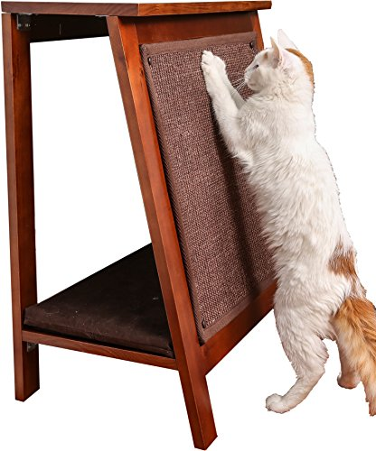 The Refined Feline AFRAME-MA A-Frame Cat Bed Scratcher, Mahogany