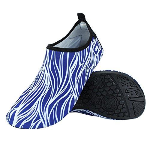 Sport Pool Beach Shoes Senfi Kids Camp Lightweight Water men blue Quick Women dry R wXRp0