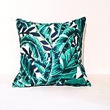 "Banana Palm Leaf Tree Decorative Decor Pillow Cover 18""X18"""