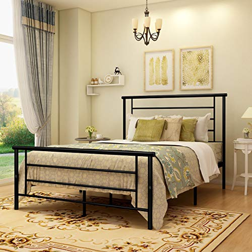 Metal Beds with Headboard and Footboard Mattress Foundation for sale  Delivered anywhere in Canada