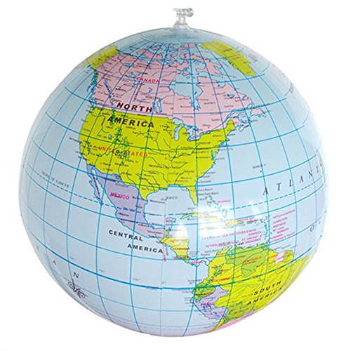 Potato001 Inflatable World Globe Earth Map Geography Teacher Aid Ball Toy Gift 40cm/16'' by Potato001 (Image #2)