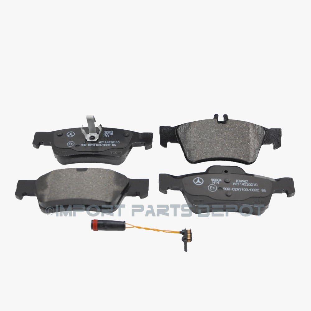 For 2010-2011 Mercedes-Benz E350 Front Rear Semi-Metallic Brake Pads