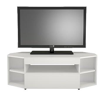 nexera blvd corner tv stand white