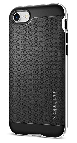 Spigen Neo Hybrid iPhone 7 Case with Flexible Inner Protection and Reinforced Hard Bumper Frame for iPhone 7 2016 - Satin Silver