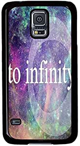 To Infinity and Galaxy Samsung Galaxy S5 I9600 Cases- Black Sides