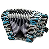 SKY Accordion Camouflage Color 7 Button 2 Bass
