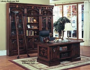 Amazon.com: Marbella doble pedestal Executive Home ...
