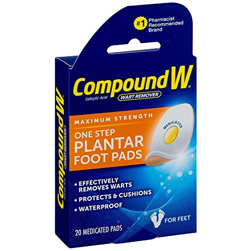 (Compound W Maximum Stregth One Step Plantar Foot Pads,20 ea)