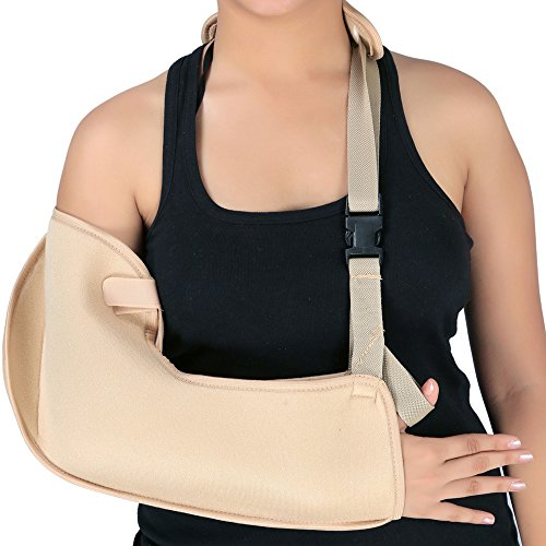 Adjustable Arm Sling with Padded Shoulder Strap | Medical Arm Sling for Broken and Fractured Bones | Made of Lightweight and Breathable Material (Small)