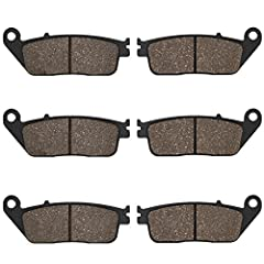 Brand: CYLETOMaterial:Semi-metallic Organic MetalPackage Include:2 Pairs front & 1 Pair rear brake pads Features: - Used the advanced materials to reduce the noise and vibration for that give the rider a comfortable journey. - Provide exc...