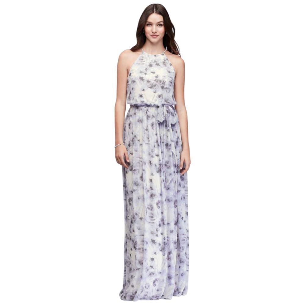fc2a2176b3e Alana Printed Chiffon Bridesmaid Dress Style W2503MDB, Lavender Print, 10:  Amazon.ca: Clothing & Accessories