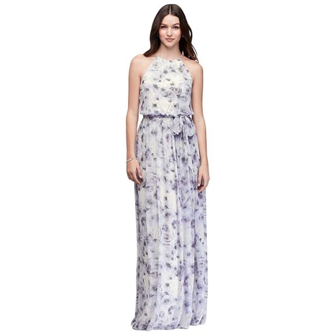 b409ea94fb0 Alana Printed Chiffon Bridesmaid Dress Style W2503MDB, Lavender Print, 10