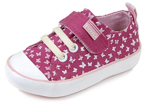 Garvalín 162371 - Sandalias para niñas Rosa Estampado Lazos (Pique)