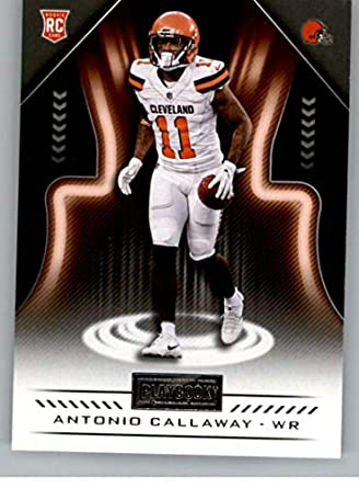 2018 Playbook Football  187 Antonio Callaway RC Rookie Card Cleveland  Browns Rookie Official NFL Card 73b858917