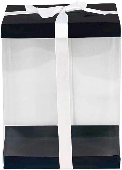Extra Large Clear PVC Box Tall Hat Display Rose Bear Cake Box