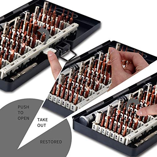 Kaisi 70 in 1 Precision Screwdriver Set Professional Electronics Repair Tool Kit with 56 Bits Magnetic Driver Kit, Anti Static Wrist Band, Spudgers for Tablet, MacBook, PC, iPhone, Xbox, Game Console