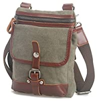 Vagabond Traveler Canvas Stylish Satchel Slim Shoulder Bag C97