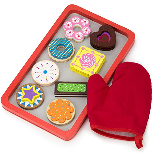 Wood Eats! Warm Delights Cookie Tray - 8 Whimsical, Colorful Cookies with Oven Mitt by Imagination Generation