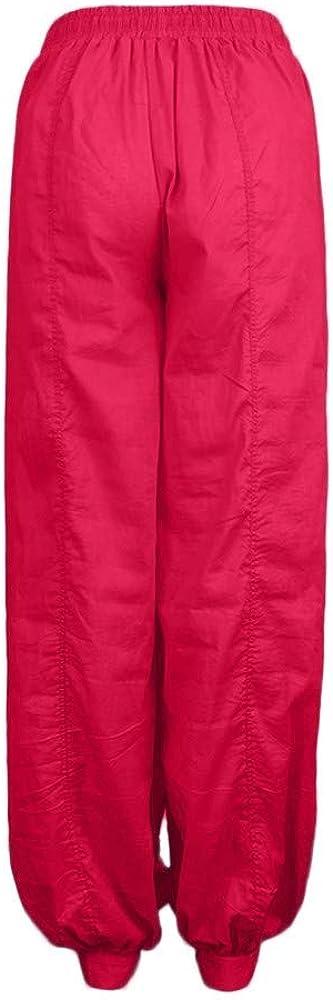 Pantacourt FNKDOR Femme Grande Taille Couleur Unie D/écontract/ée en Vrac Harem Pantalon Coton Lin Ample Pantalon Fluide Confortable Longueur L/éger Cordon /Élastique Sport Yoga Pants