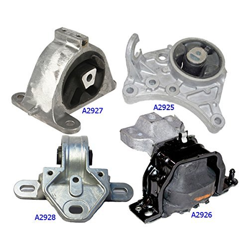 A2926 A2928 A2925 A2927 Engine Motor and Trans Mount Set of 4 for 2001-2007 Chrysler Dodge