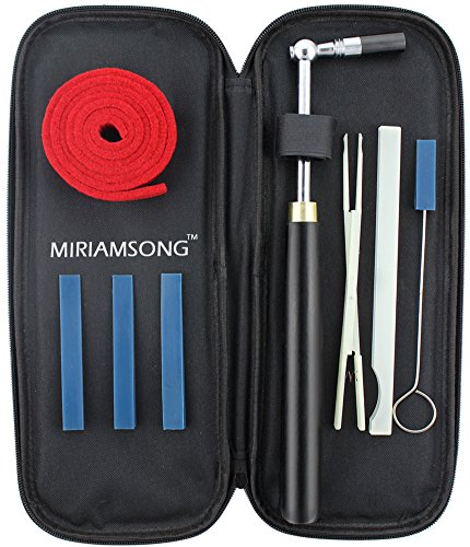 Miriamsong Piano Tuning / Tuner Kits with 8 Tools 1 Lever Wrench Hammer or Key with Star Head, 3 Rubber Wedge...