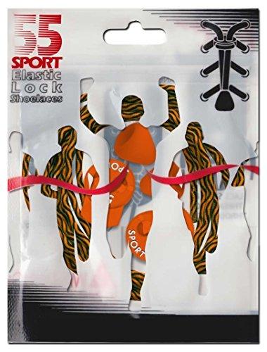 55Sport cintas reflectante altamente elásticas Zig Zag Orange