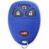 KeylessOption Keyless Entry Remote Control Car Key Fob Replacement for 15114374 Blue
