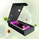 UV Phone Sanitizer, Smartphone Sterlizer for iPhone X,iPhone 8, Samsung Galaxy, Android Device, Pacifiers, Smart Watches, Headphones, Keys (Black)