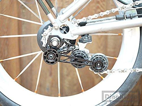 F+ Black Aluminium Alloy Lightweight Tensioner for Brompton Bicycle ver 4.0