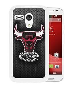 Newest Mogo G Case,Chicago Bulls 6 White High Quality Hot Sale Motorola Moto G Phone Case