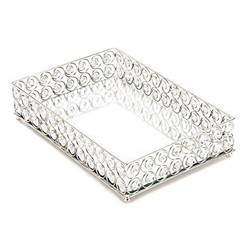 Koehler 10017443 13 Inch Shimmer Rectangular Jeweled Tray, 15.5 x 11.4 x 5 inches (Perfume Large Tray)