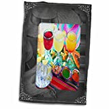 3D Rose Drinks-Mexican Style Hand/Sports Towel, 15 x 22